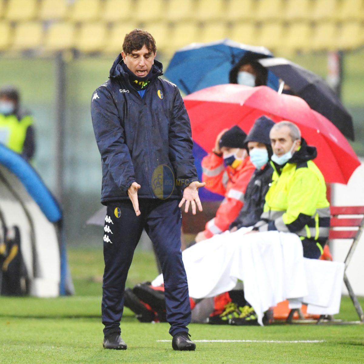 Modena calcio: mr. Mignani e Vergassola aisaluti.
