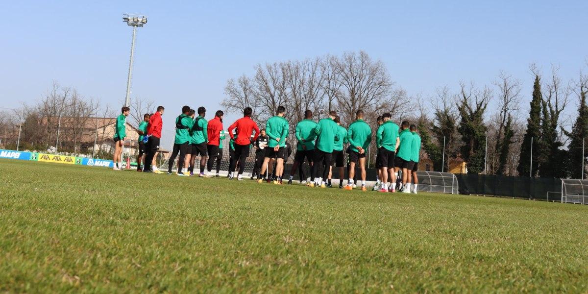 Sassuolo, squadra già al lavoro, mercoledì al Mapei arriva laJuventus