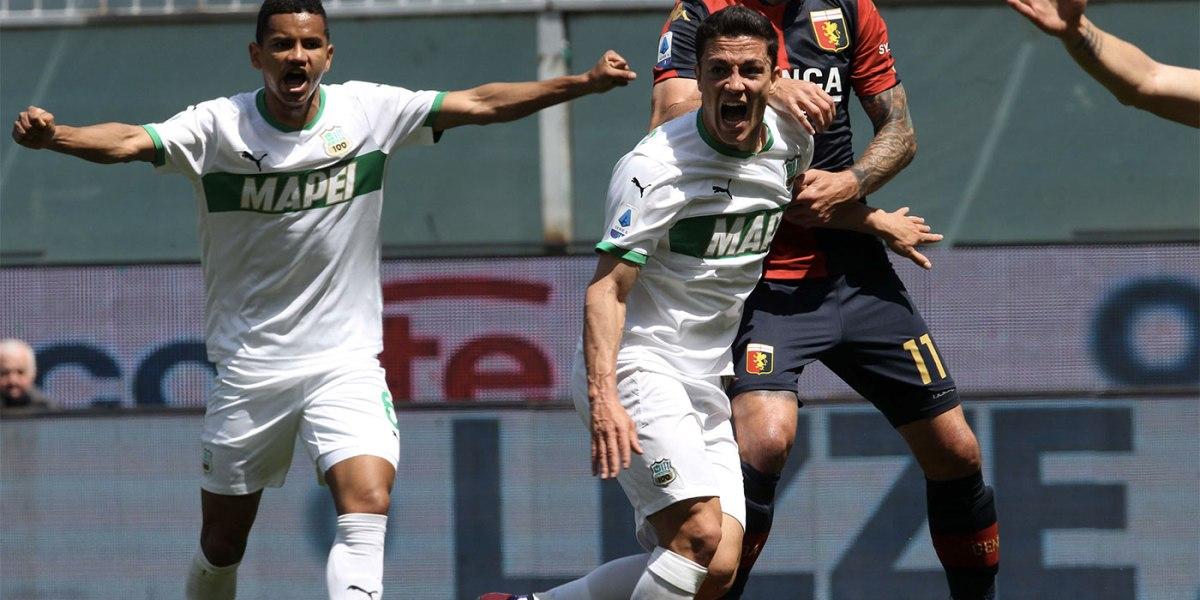 Genoa-Sassuolo 1-2, vittoria importante firmata Raspadori-Berardi